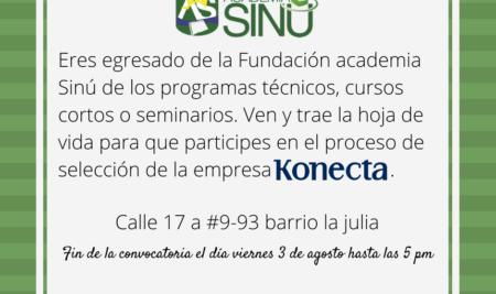Participa en el proceso de selección de la empresa Konecta.